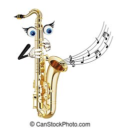 cartoon saxophone