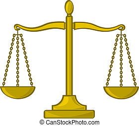 Cartoon Scales of Justice - A cartoon depiction of the...
