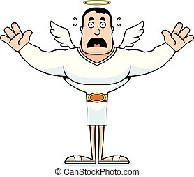 Cartoon Scared Angel