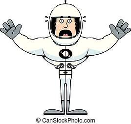 Cartoon Scared Astronaut