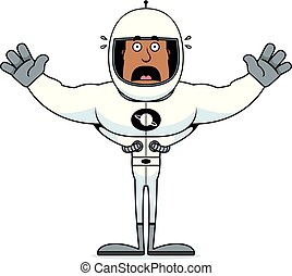 Cartoon Scared Astronaut