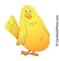 Cartoon Scared Bird