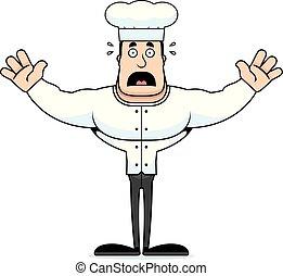 Cartoon Scared Chef