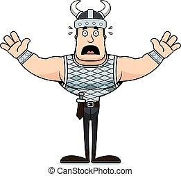 Cartoon Scared Viking