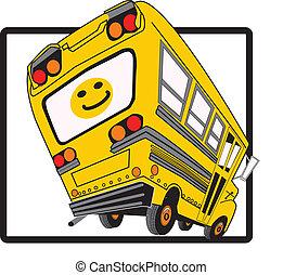 Cartoon School Bus