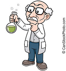 Cartoon Scie - Vector illustration of Cartoon Scientist