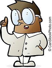cartoon scientist