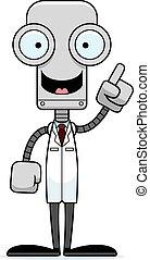 Cartoon Scientist Robot Idea
