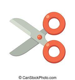 Cartoon scissors icon