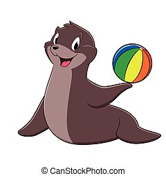Cartoon Sea Lion
