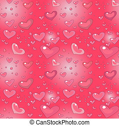 Cartoon seamless pattern with heart