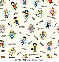 Cartoon seamless pattern
