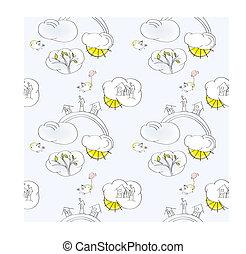 Cartoon seamless wallpaper