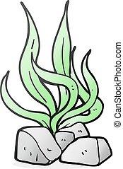 cartoon seaweed - freehand drawn cartoon seaweed