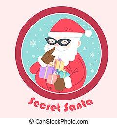 cartoon secret santa
