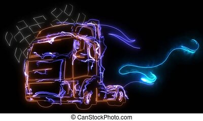 Cartoon Semi Truck. video animation - Cartoon Semi Truck. ...