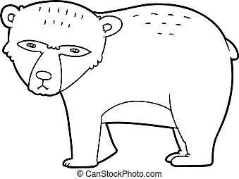 cartoon serious bear