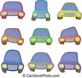 Cartoon, set cars