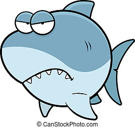 Cartoon Shark Angry