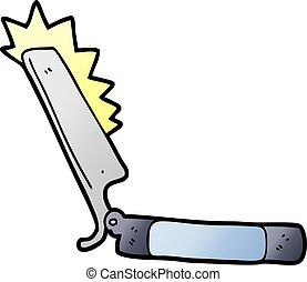 cartoon sharp razor
