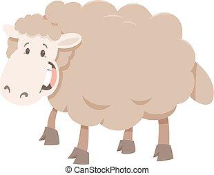 cartoon sheep animal character