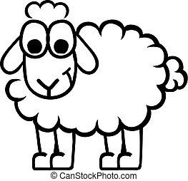 Cartoon sheep contour