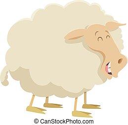 cartoon sheep farm animal