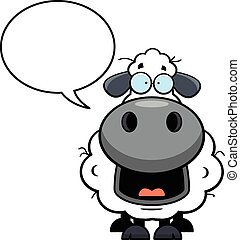 Cartoon Sheep Speech Bubble