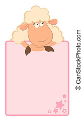 cartoon sheep with  frame - cartoon sheep with frame