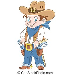 Cartoon sheriff boy - Cartoon sheriff or american cowboy....