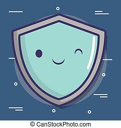 cartoon shield icon
