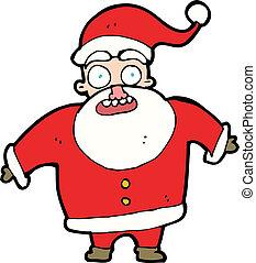 cartoon shocked santa claus