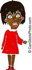 cartoon shocked woman