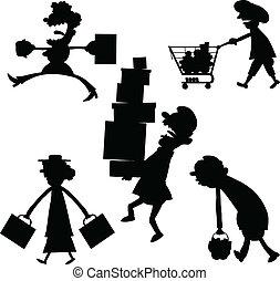Cartoon Shopping
