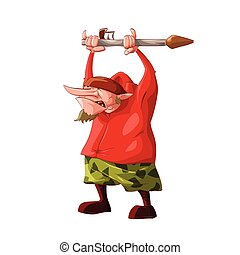 Cartoon short rebel / separatist fighter - Colorful vector ...