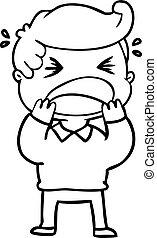 cartoon shouting man