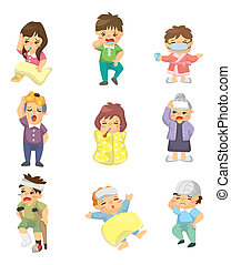 Cartoon Sick Character