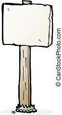 cartoon sign post
