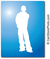 Cartoon Silhouette Vector Clipart