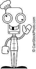 Cartoon Silly Chef Robot