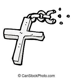 cartoon silver cross