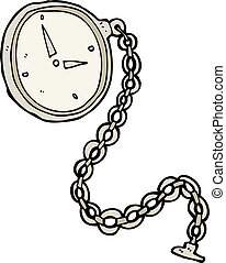 cartoon silver watch