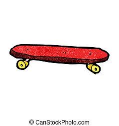 cartoon skateboard