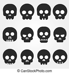 Cartoon skull icon