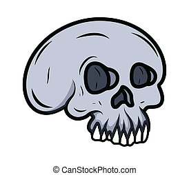 Cartoon Skull Illustration