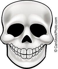 Cartoon Skull - A cartoon character skull Halloween...