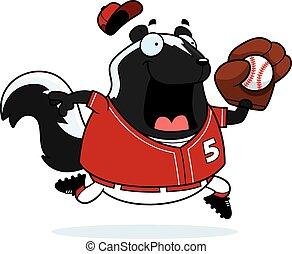 Cartoon Skunk Baseball