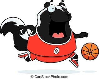 Cartoon Skunk Basketball