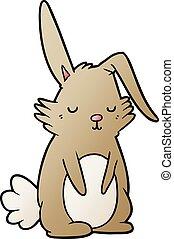 cartoon sleepy rabbit