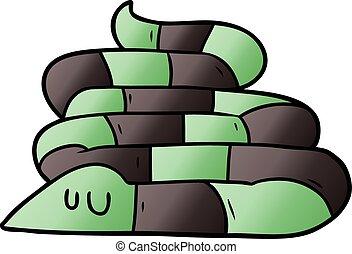 cartoon sleepy snake